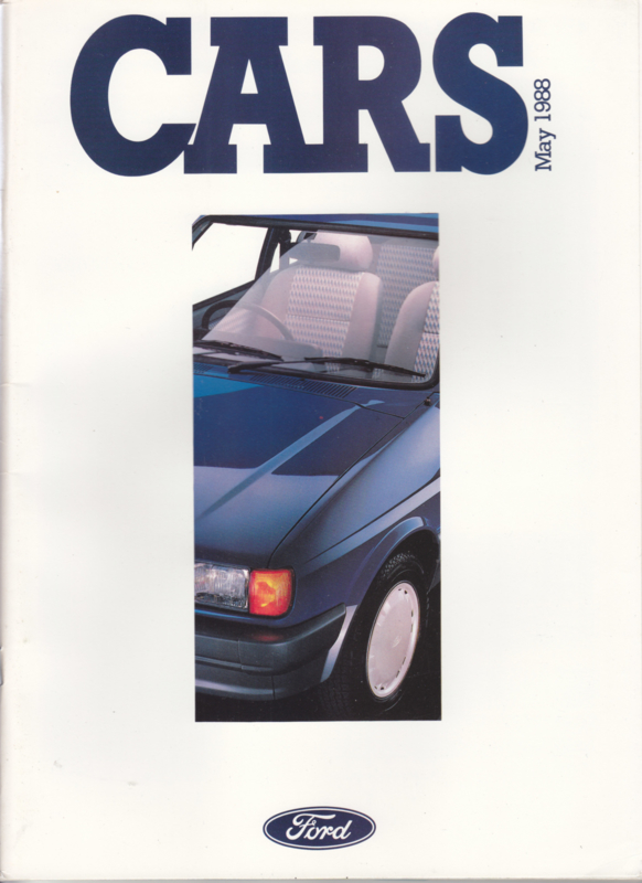 Cars UK all model brochure, 140 pages, 05/1988, English language