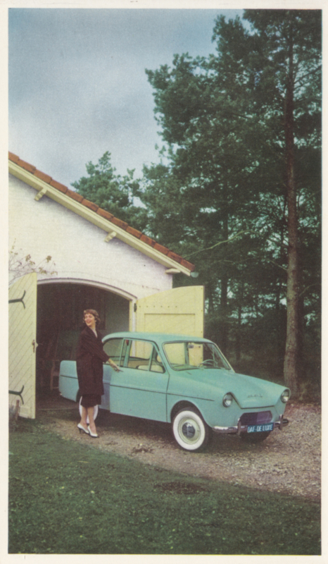 600 Sedan, standard size, factory issue, 5 languages, about 1962