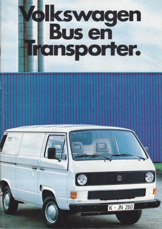 Bus & Transporter brochure, 40 pages,  A4-size, Dutch language, 08/1985