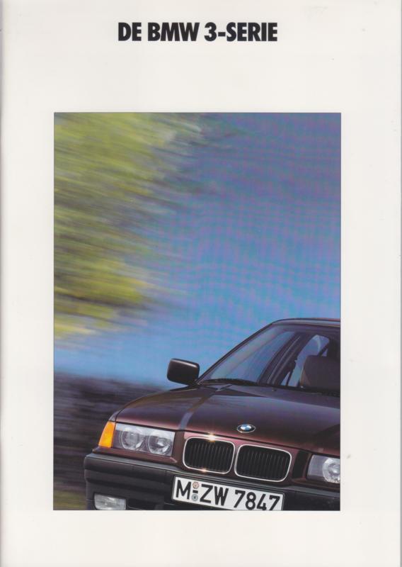 3-Series Sedans brochure, 50 pages, A4-size, 2/1990, Dutch language