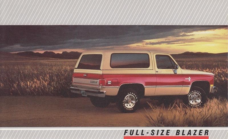 Full-Size Blazer,  US postcard, large size, 19 x 11,75 cm, 1988
