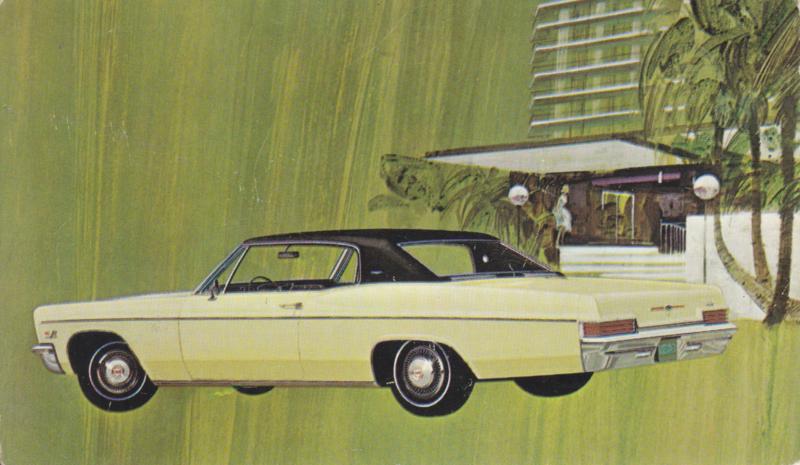 Caprice Custom Coupe, US postcard, standard size, 1966