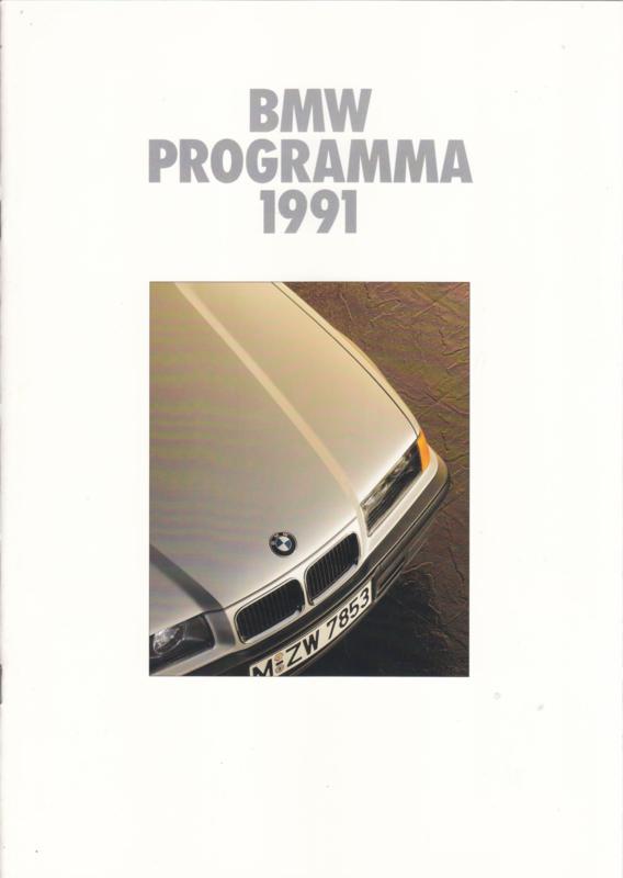 Program 1991 brochure, 22 pages, A4-size, 1/1991, Dutch language