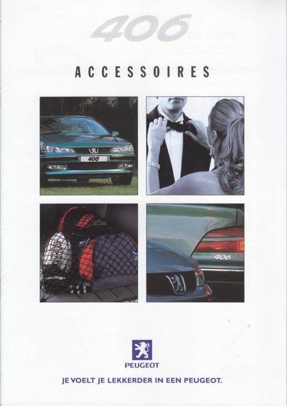 406 accessories brochure, 16 pages, A4-size, 08/1999, Dutch language