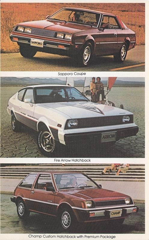 Imports by Mitsubishi, large US postcard, 12,5 x 20 cm, 1979