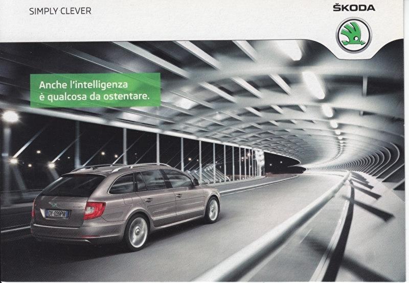 Superb Wagon, A6-size Promocard, Italian, 2014, 10149/a