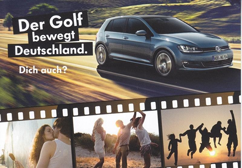 Golf, A6-size postcard, German, 2014