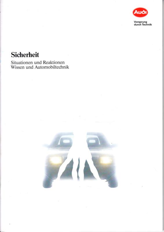 Sicherheit (Safety) brochure, 36 pages, 09/1991, German language