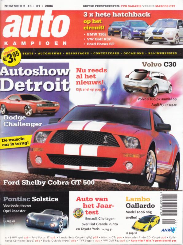 Auto Kampioen, 80 pages, 13.01.2006, Dutch language