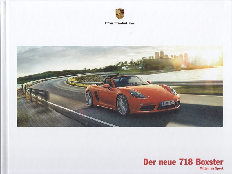 718 Boxster brochure, 60 large pages, 01/2016, hard covers, German
