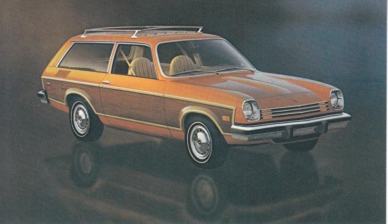 Vega Estate Wagon,  US postcard, standard size, 1977