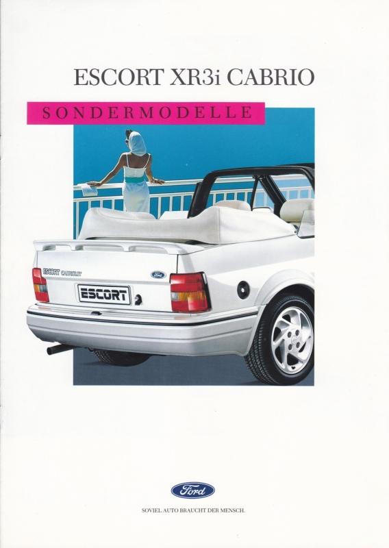 Escort XR3i Cabriolet brochure, 8 pages, 09/1988, German language