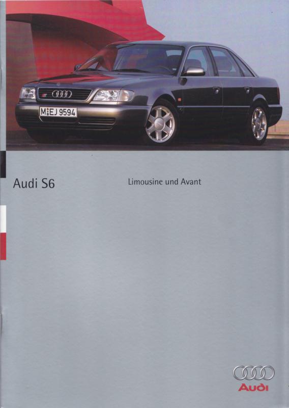 S6 Limousine & Avant brochure, 40 pages, 3/1995, German language