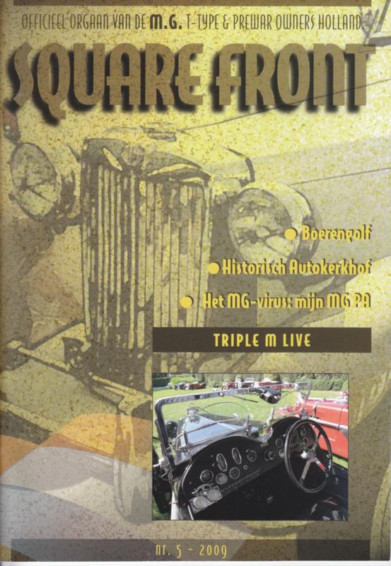 MG T-Type & Prewar club magazine,  A5-size, 52 pages, Dutch language, issue 5 (2009)