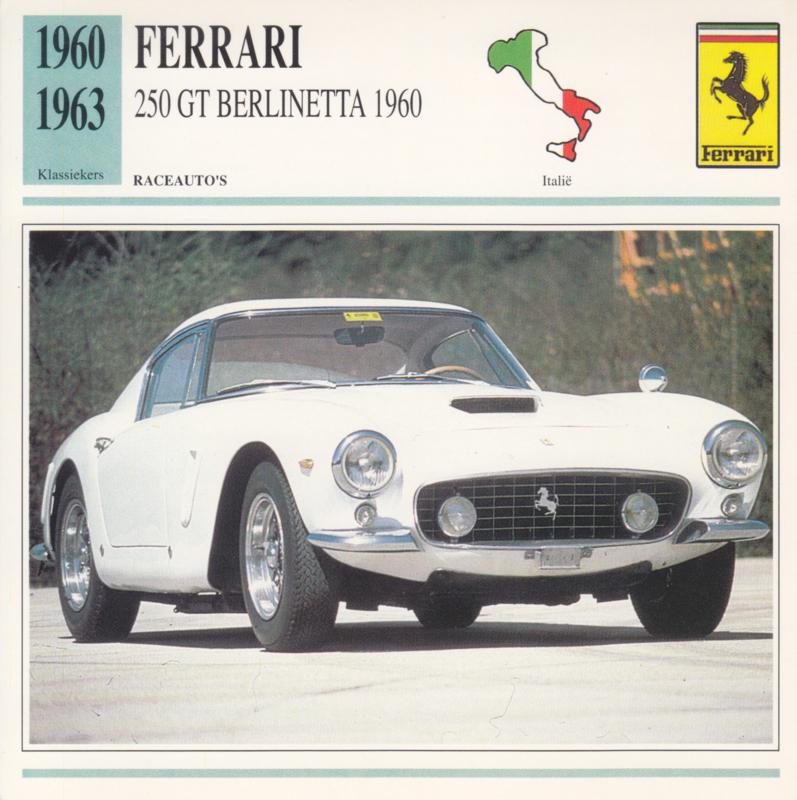 Ferrari 250 GT Berlinetta 1960 card, Dutch language, D5 019 03-11
