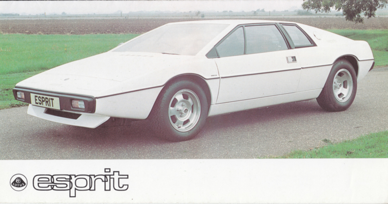 Esprit brochure, 6 pages, factory-issued, 10/1976, English language