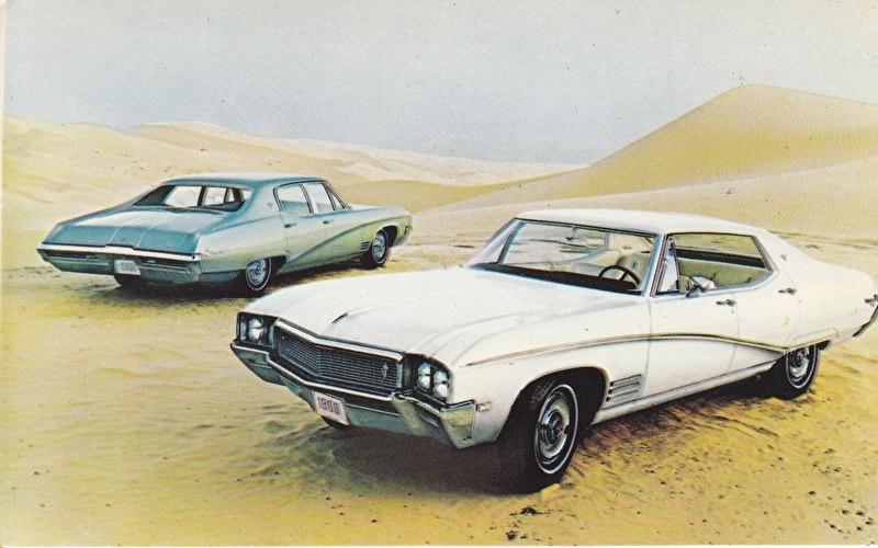 Skylark Custom Hardtop & Sedan, US postcard, standard size, 1968, # 4