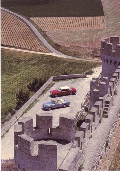 Corniche & Silver Spur postcard, DIN A6 size, English text, 1986