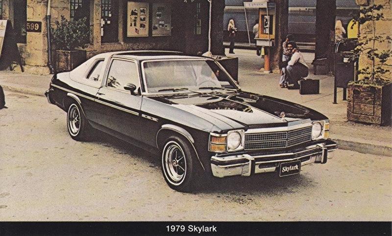 Skylark, US postcard, standard size, 1979