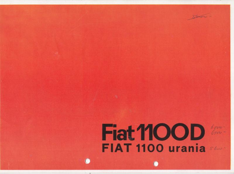 1100 D /Urania Sedan brochure, 8 pages, 12/1962, Dutch language