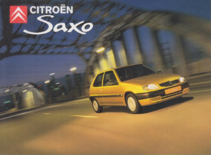 Citroën Saxo, sticker, 13,5 x 10 cm