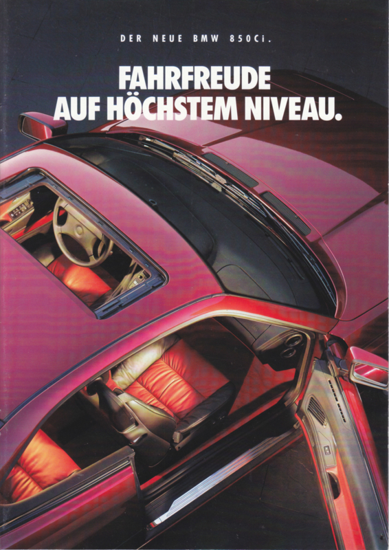 850 Ci Coupe brochure, 8 pages, A4-size, 2/1992, German language