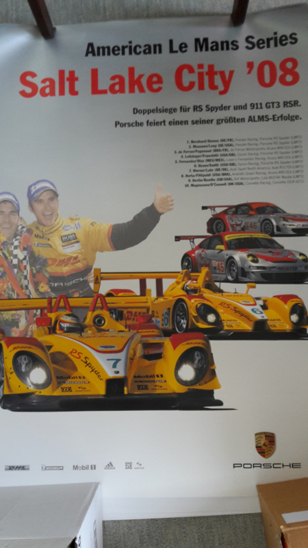 RS Spyder ALMS Salt Lake City large original factory poster, published 05/2008