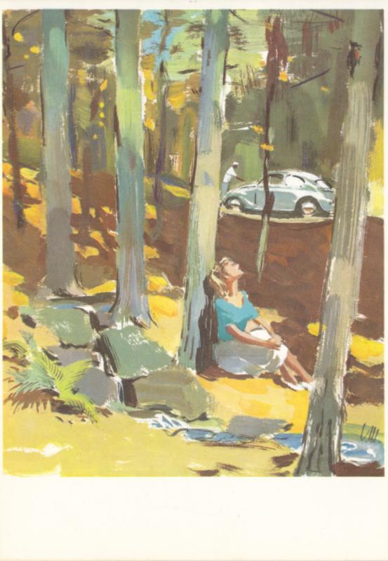 Kever (Käfer) postcard, DIN A6-size, unused, # W6/36