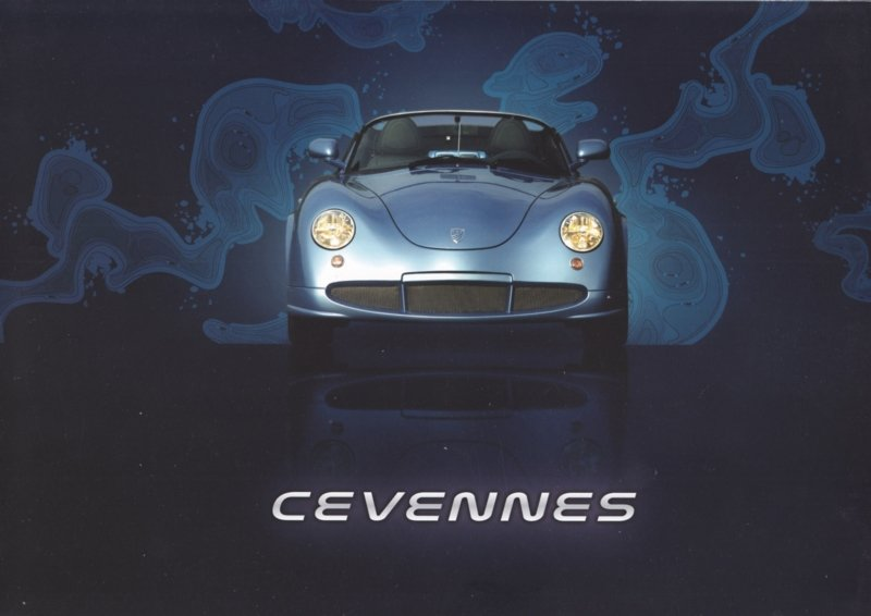 PGO Cevennes brochure, 4 pages, English language
