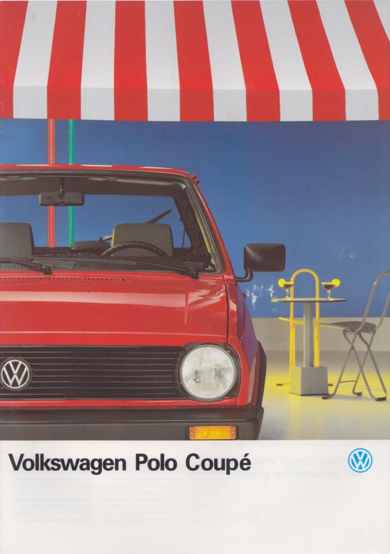 Polo Coupé brochure, A4-size, 20 pages, 08/1988, Dutch language