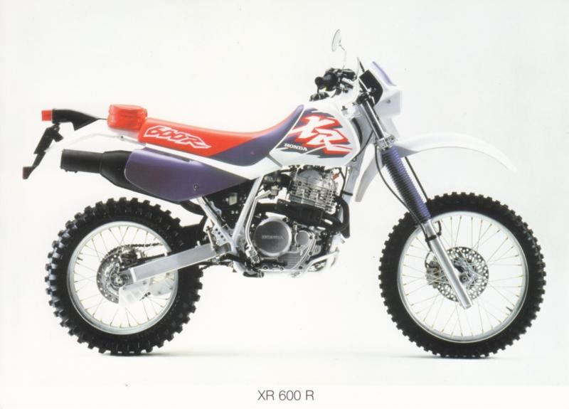 Honda XR 600 R cross postcard, 18 x 13 cm, no text on reverse, about 1994