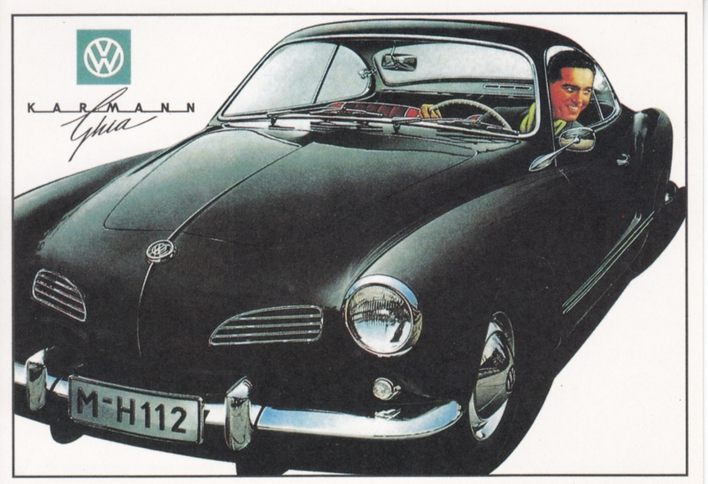 Karmann Ghia Coupe, rack card by Boomerang, 1995, Dutch