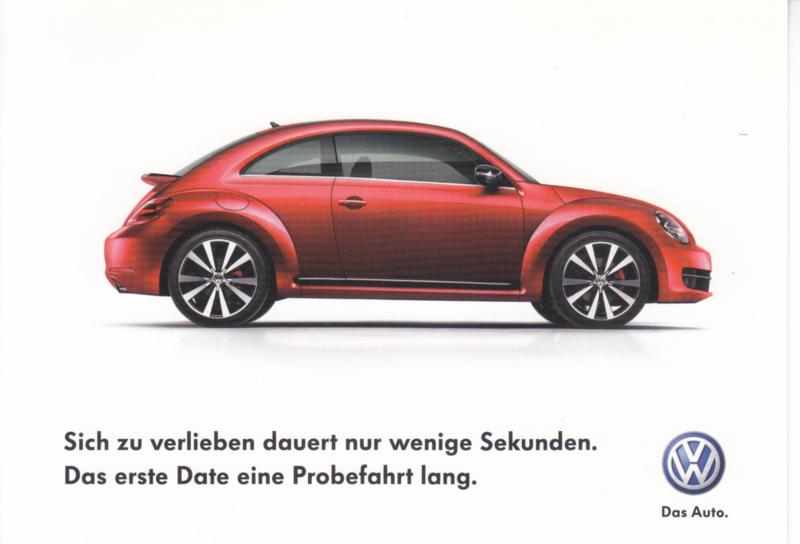 21st Century Beetle postcard,  A6-size, German language