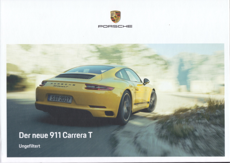 911 Carrera T brochure, 56 pages, 10/2017, hard covers, German language