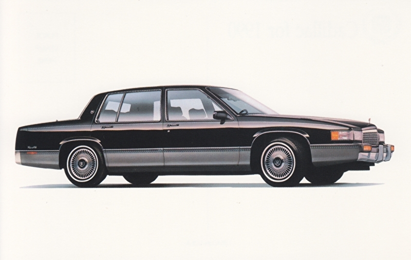 Sedan DeVille, US postcard, standard size, 1990