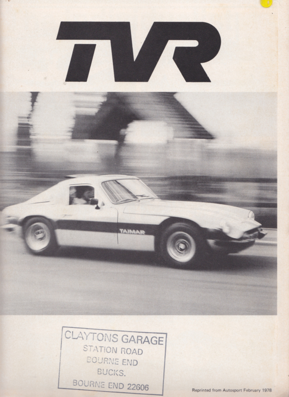 Taimar roadtest report Autosport magazine, 4 pages, English language, 2/1978 *