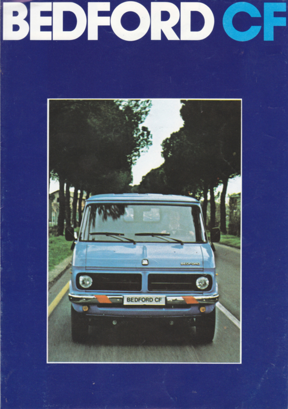 CF Vans brochure, 8 pages, about 1975, Dutch language