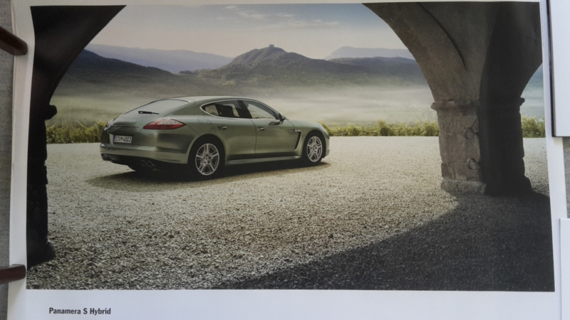 Panamera S Hybrid large original factory poster, published 03/2011