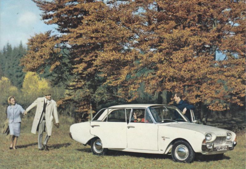 Ford Taunus 17M  4-door, advertising postcard, German, # 3 XD 160/2