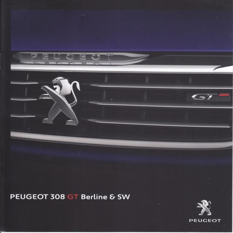 308 GT Berline & SW brochure, 8 pages, Dutch language, 2015