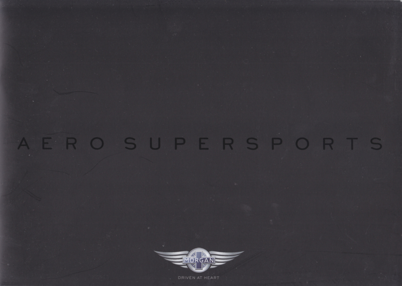 Aero Super Sports V8 brochure, 20 large pages, about 2016, UK, English language