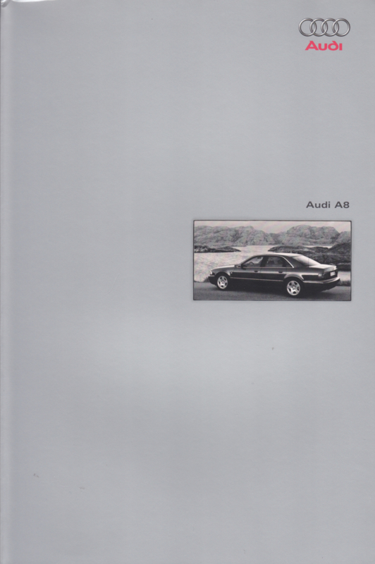 A8 Sedan double brochure, 56 + 46 pages + cover, 11/1998, German language