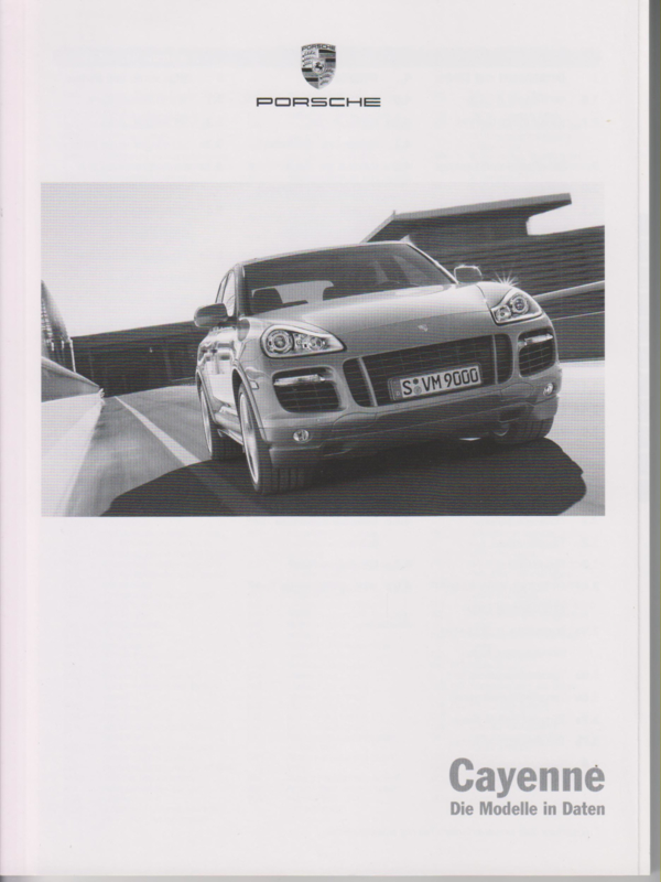 Cayenne pricelist, 110 pages, 05/2008, German