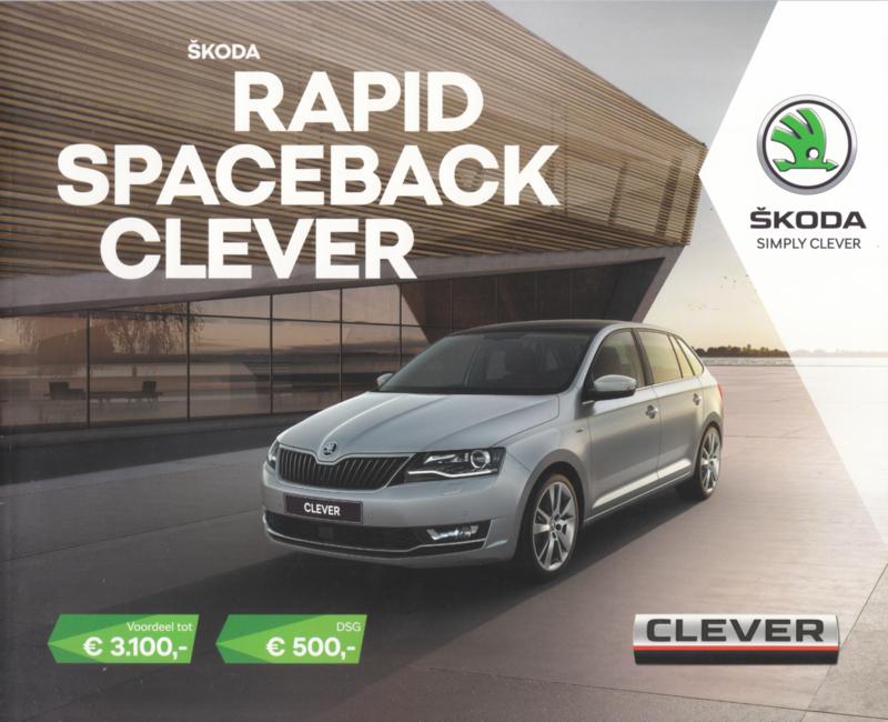 Rapid Spaceback Clever brochure, 8 pages, Dutch language, 01/2018