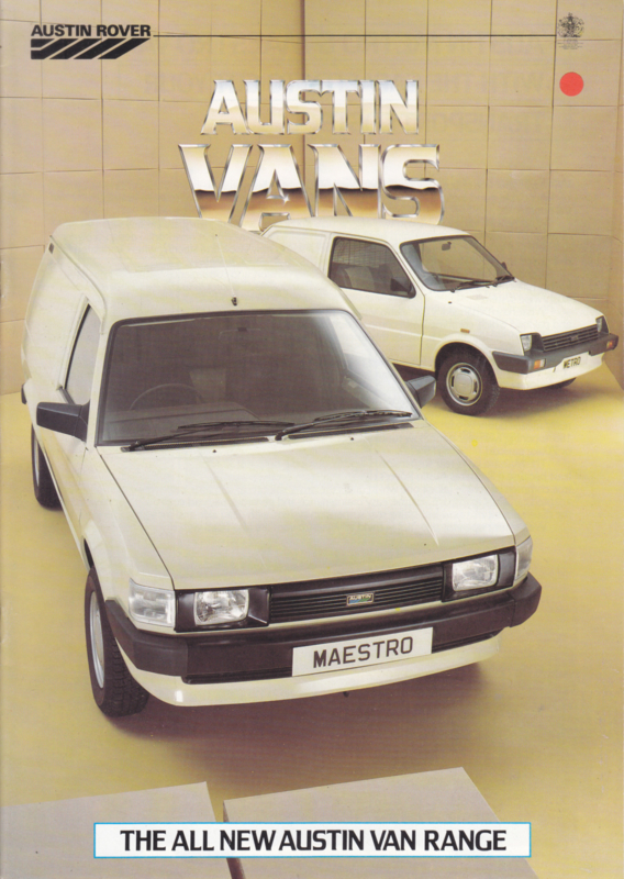 Metro & Maestro Vans program, 22 pages, A4-size, about 1983, English language, # 3671/A