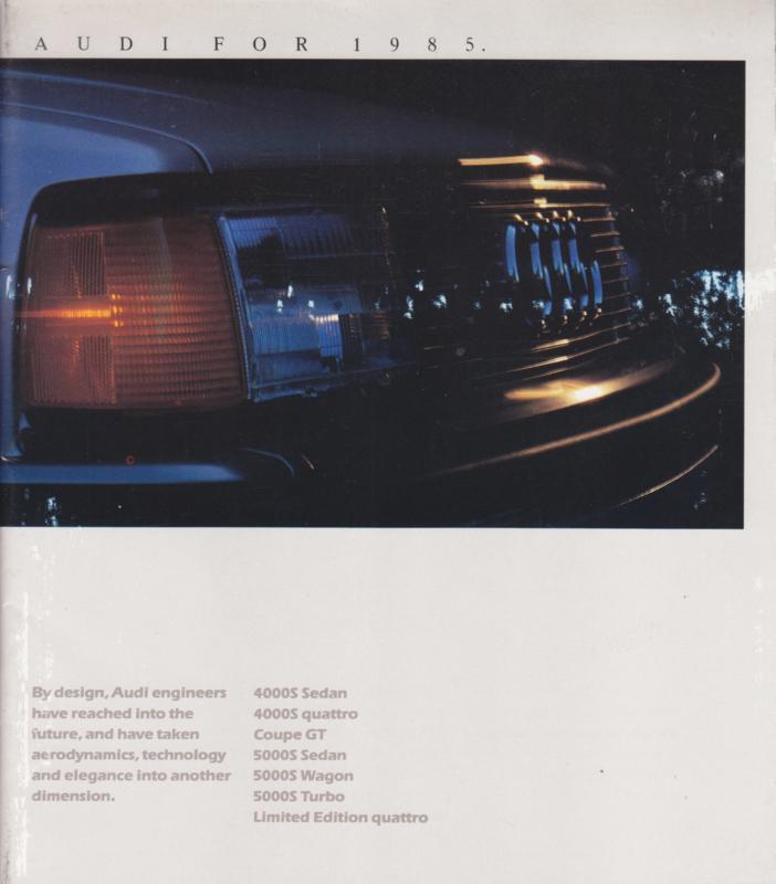 Program USA 1985 brochure, 20 square pages, W73-805-6171, English language