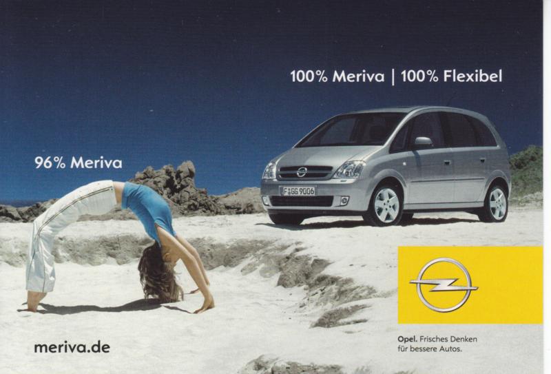 Meriva postcard, DIN A6-size, Boomerang freecard, German language