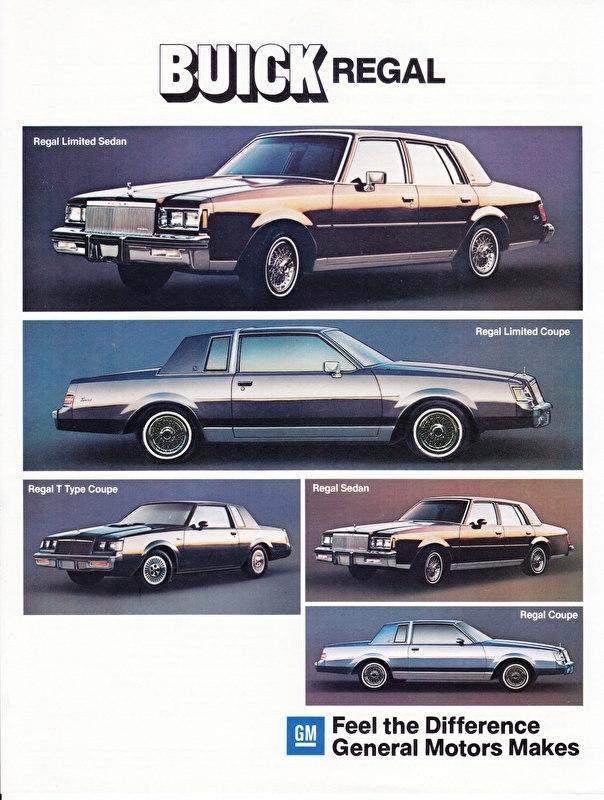 Regal 1984 models, 2 pages, 09/1983, German language