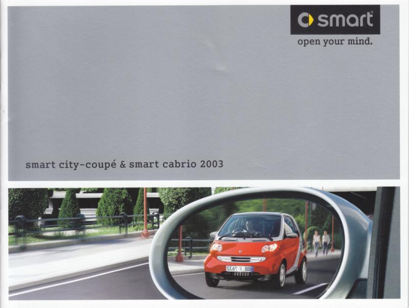 City Coupé & Cabrio brochure, 24 pages, 11/2002, Dutch language