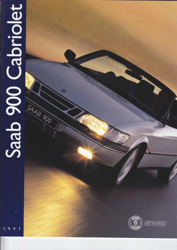 900 Cabriolet brochure, 22 pages, 1997, Dutch language, # 270454